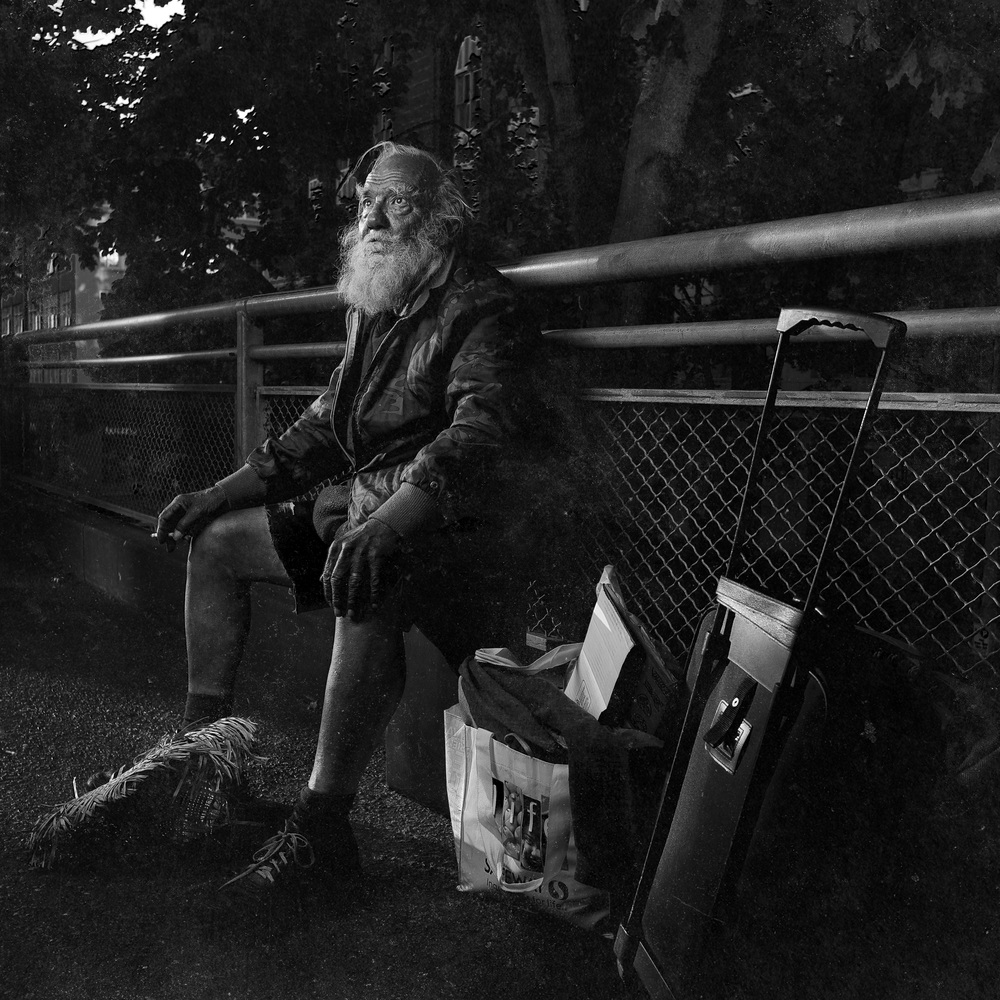 At the time I photographed him in Seattle, Nelson was 75 years old and homeless. He now resides near his family in Florida.