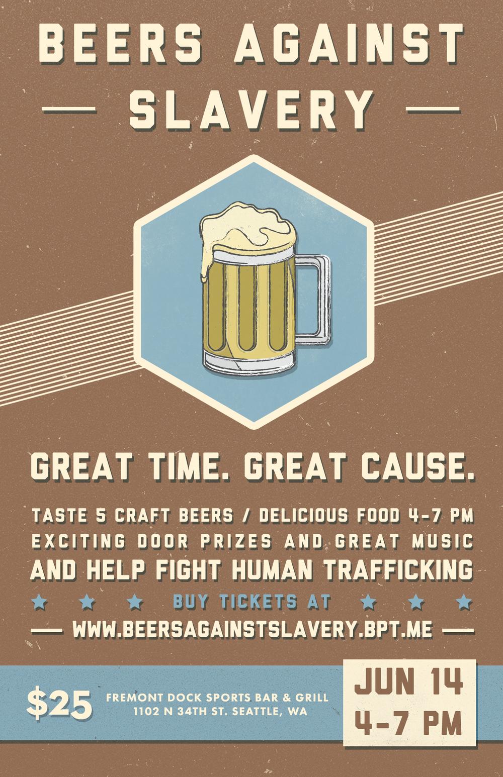 Beers Against Slavery Poster