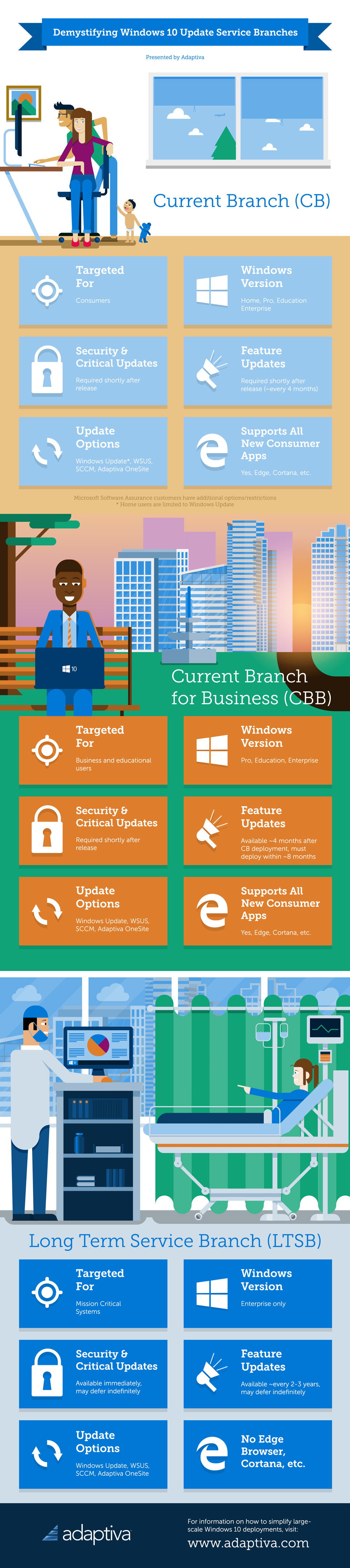 Windows 10 Update Service Branches Infographic