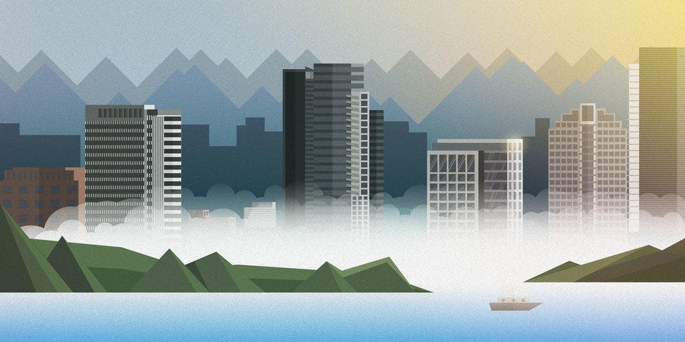 Bellevue Skyline Illustration