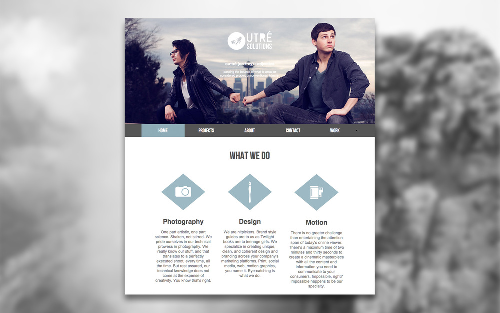 Outre Solutions Homepage