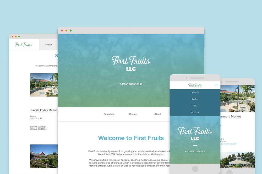 First Fruits, LLC Website