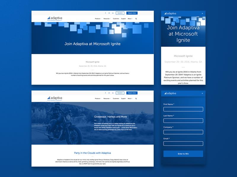 Microsoft Ignite Webpage