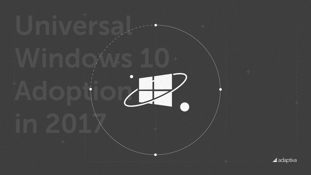 Blog Illustration: Universal Windows 10 Adoption