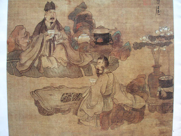 Tea Time by Chen Hongshu -  Ming Dynasty