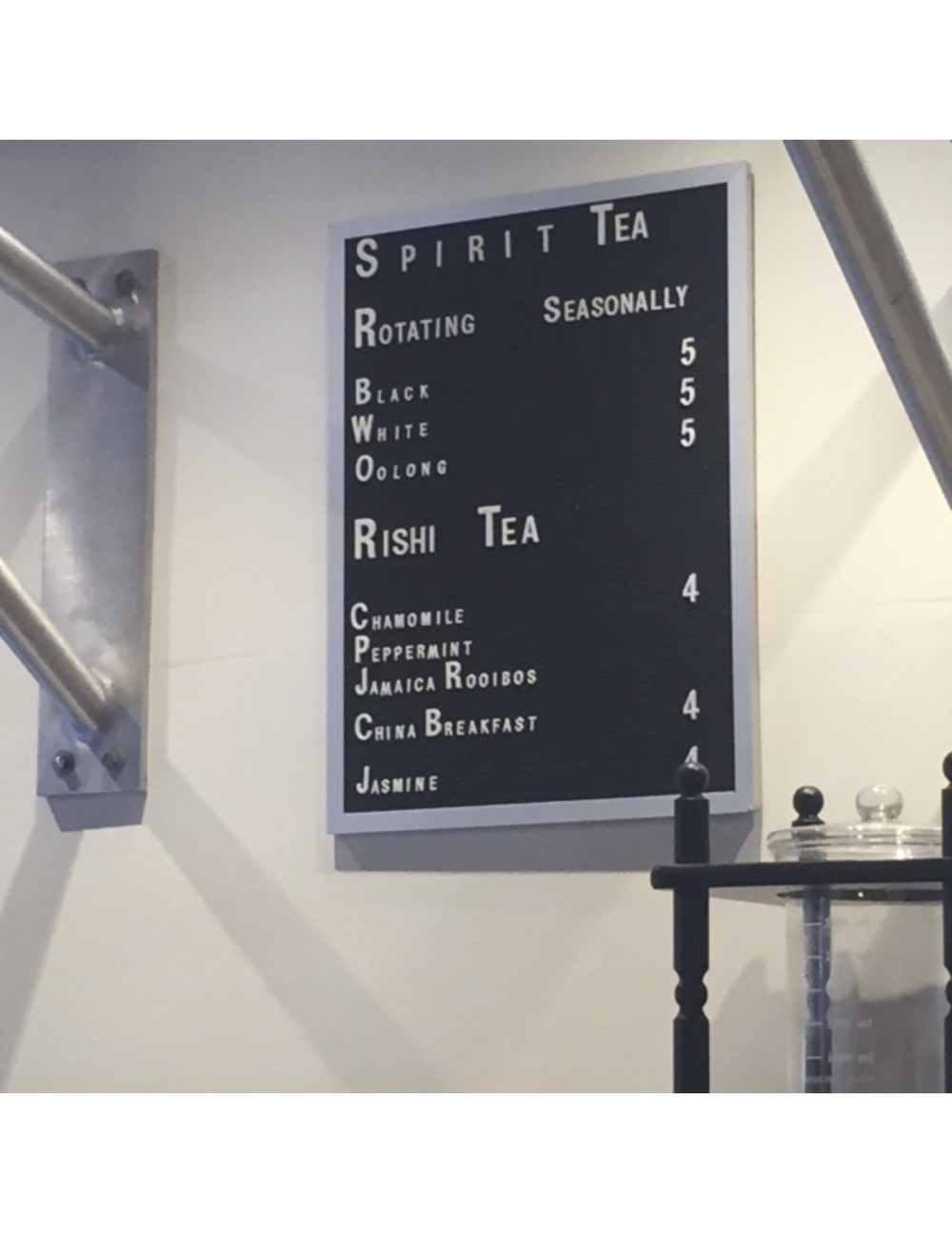 This Tea menu stays much more ambiguous and allows for you to rotate your teas seasonally