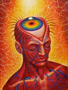 Painting credit Alex Grey