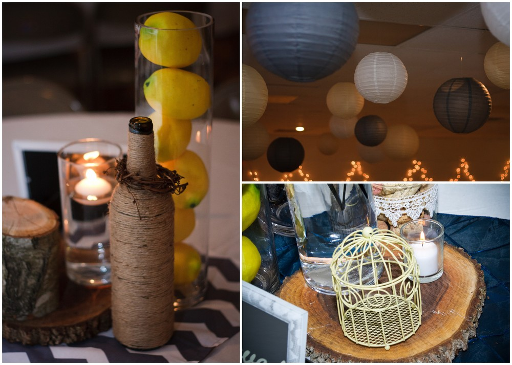 This was the first time I had ever seen someone use lemons in their decor and I LOVED it! Such a neat idea to use lemons for a good pop of yellow!