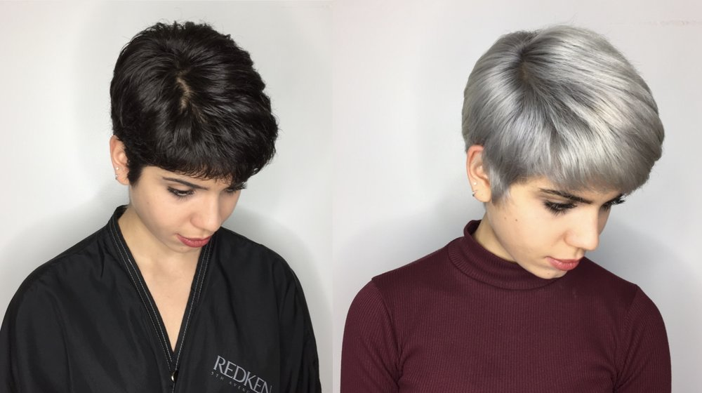 Fantasy Color by Mandy. This process included 4 lightening services, treatments and final silver glaze. Total time 6 hours split between 2 appointments.