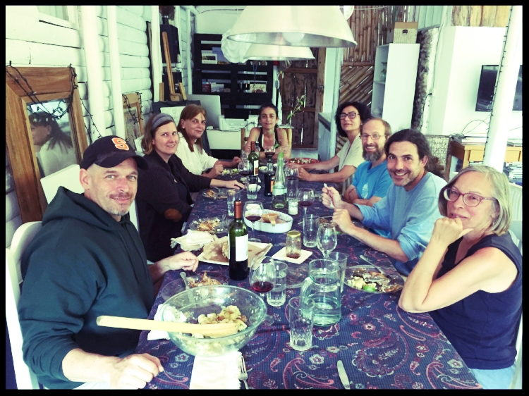 Lunch with people from upstate New York and Austin, Texas--who came to Ecuador to learn more about organic farming.