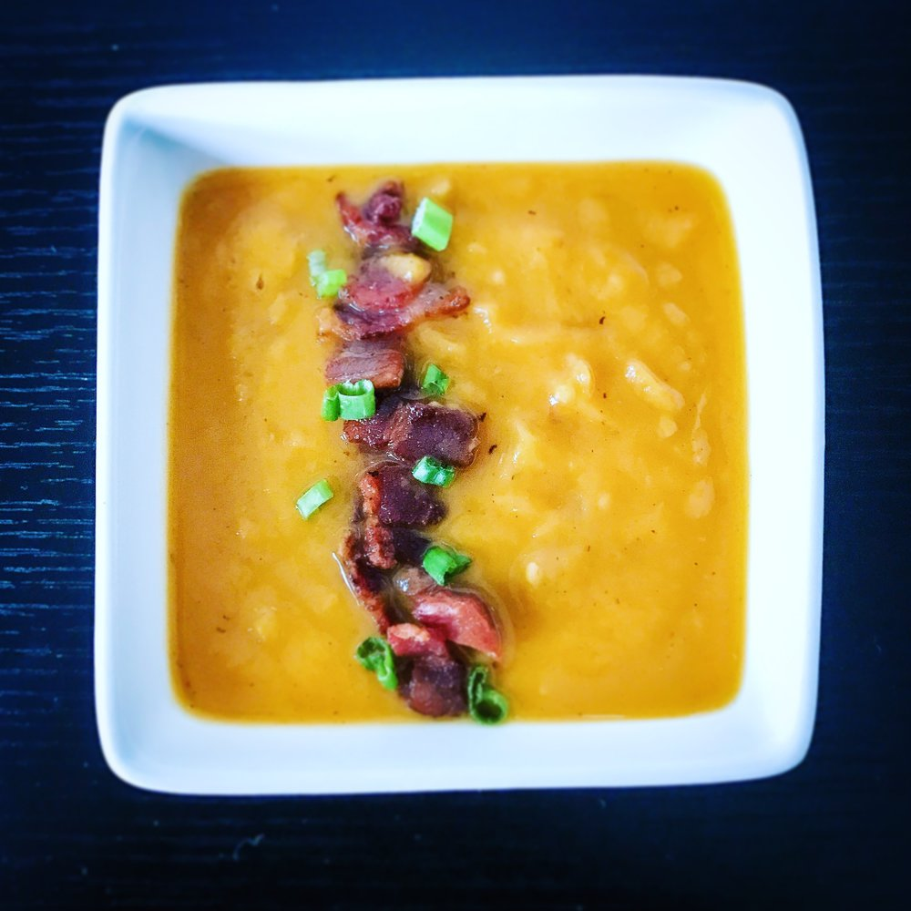 Sweet Potato Soup with Bacon