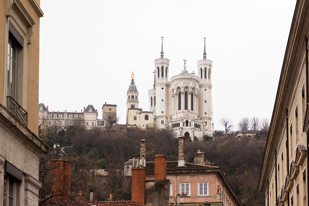 Fourvière with Notre Dame de Fourvière & Minimes Theatre Romain