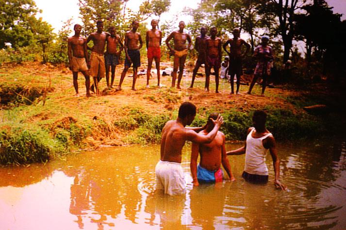 Pastor Seth Baptism in Sissala Ghana, 1994