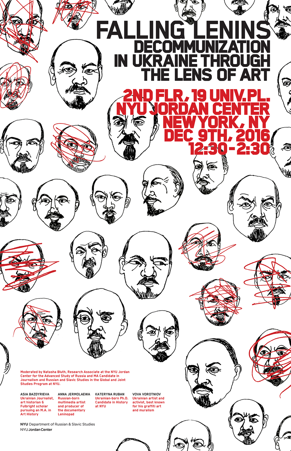 Poster for an NYU panel on post-Lenin Russia