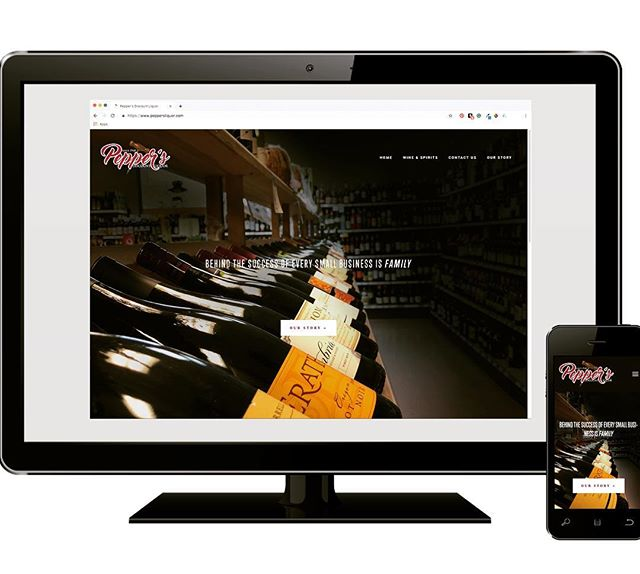 Loved partnering with our neighbors down the street, Pepper's Liquors on their new website! Check it out at peppersliquor.com . . . . #webdesign #websitedesigner #graphicdesign #auburnny #flx #flxdesign