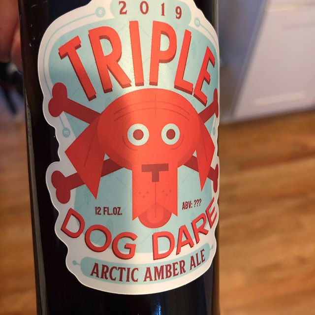 Here's another beer label design!! (Brewed and designed by @christophermaddenillustration ) #branding #beer #beerart #illustrator #trippledogdare