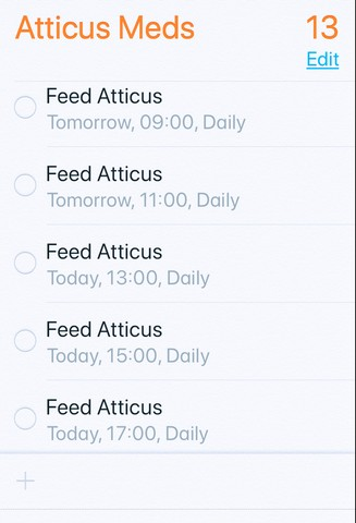 - Feeding Atticus on a 2 hour scheduleSetting my timers is a weird thing to doHe has always made his own food beforeBut gotta get that fat to stick like glue