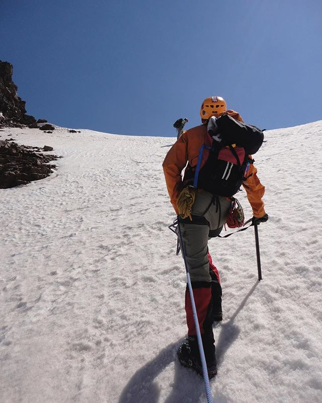 Interested in learning skills to help keep you safe in the Elk Mountains? Check out our upcoming Castle Peak mountaineering courses with our partner @coloradomountainschool on June 23-24th or July 7th-8th. Learn how to use an ice axe, crampons, snow anchors, and other mountaineering skills. Test your newfound skills with a technical climb of Castle Peak at 14.265'! We also offer private mountaineering instruction. Call us or shoot us a DM!