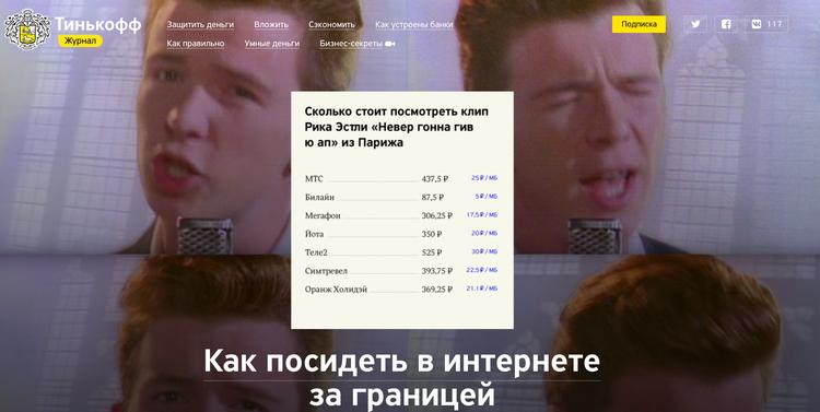 «Тинькофф-журнал», «Тинькофф-банк»