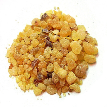 Frankincense resin,photo taken byPeter Presslein,CC BY-SA 3.0,