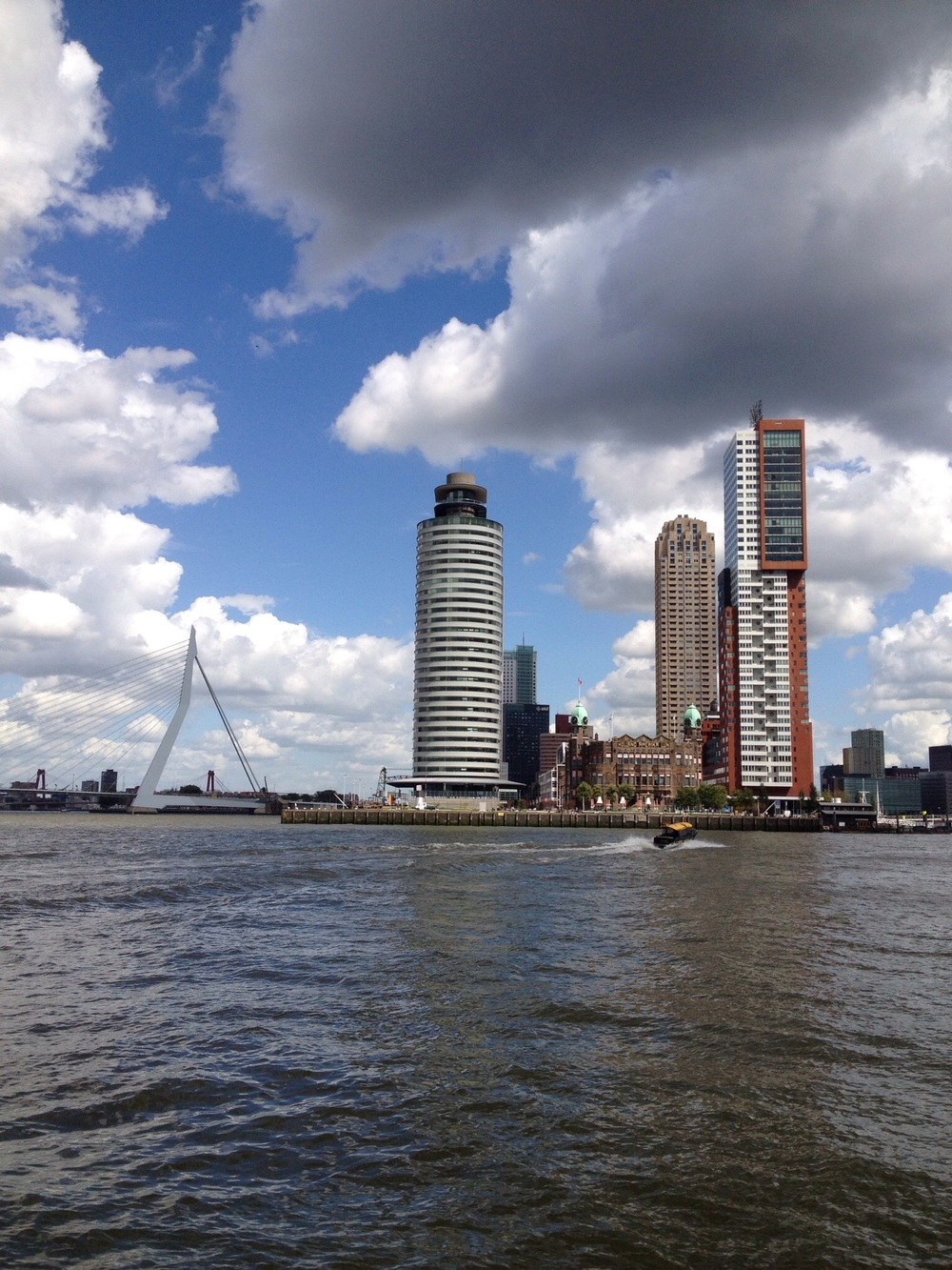 Rotterdam Waterfront  Waiting for the impressive and on time water taxi.