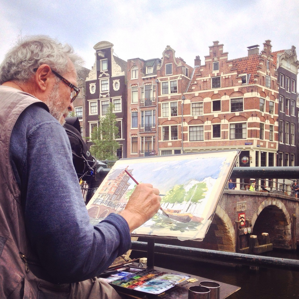 Capturing scenic Amsterdam A great find and many thanks to the artist who gave me this moment.