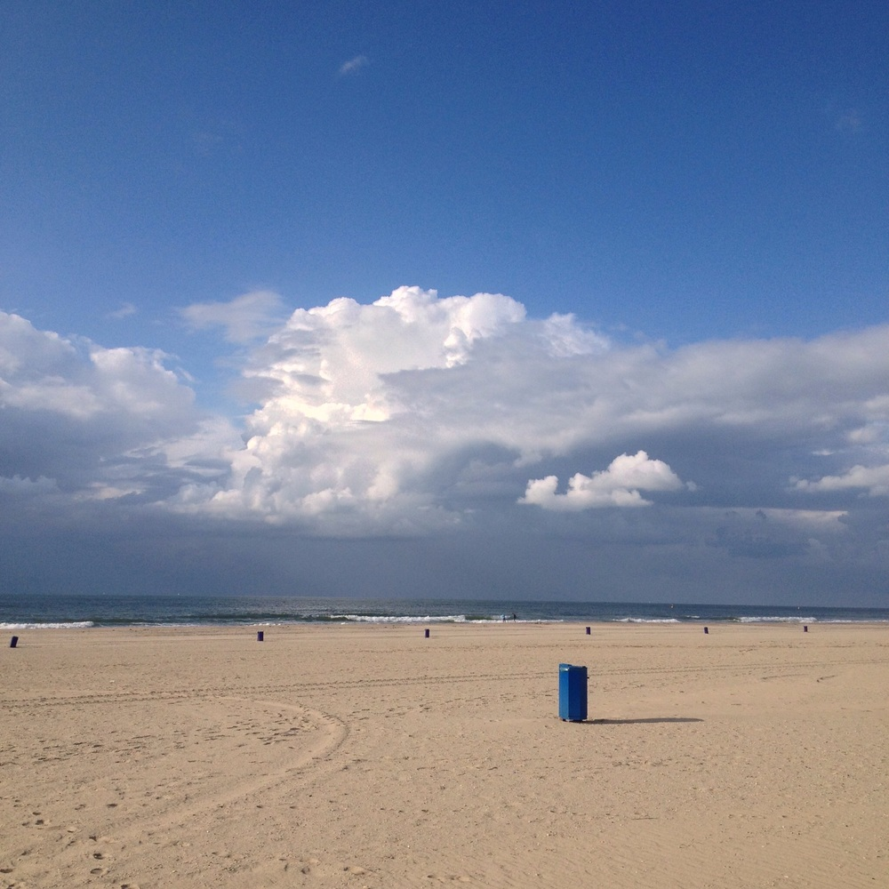 Storm rolling in from England. The Dutch Coast.