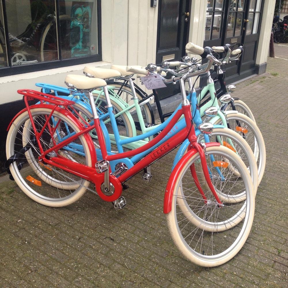 Many, many bikes in many, many colours.