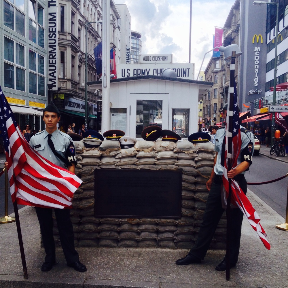Checkpoint Charlie Even has a McDonald's
