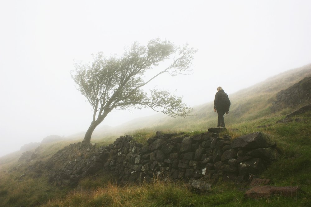 My partner Claire @claireonline walking the hills near the Roaches in the UK.