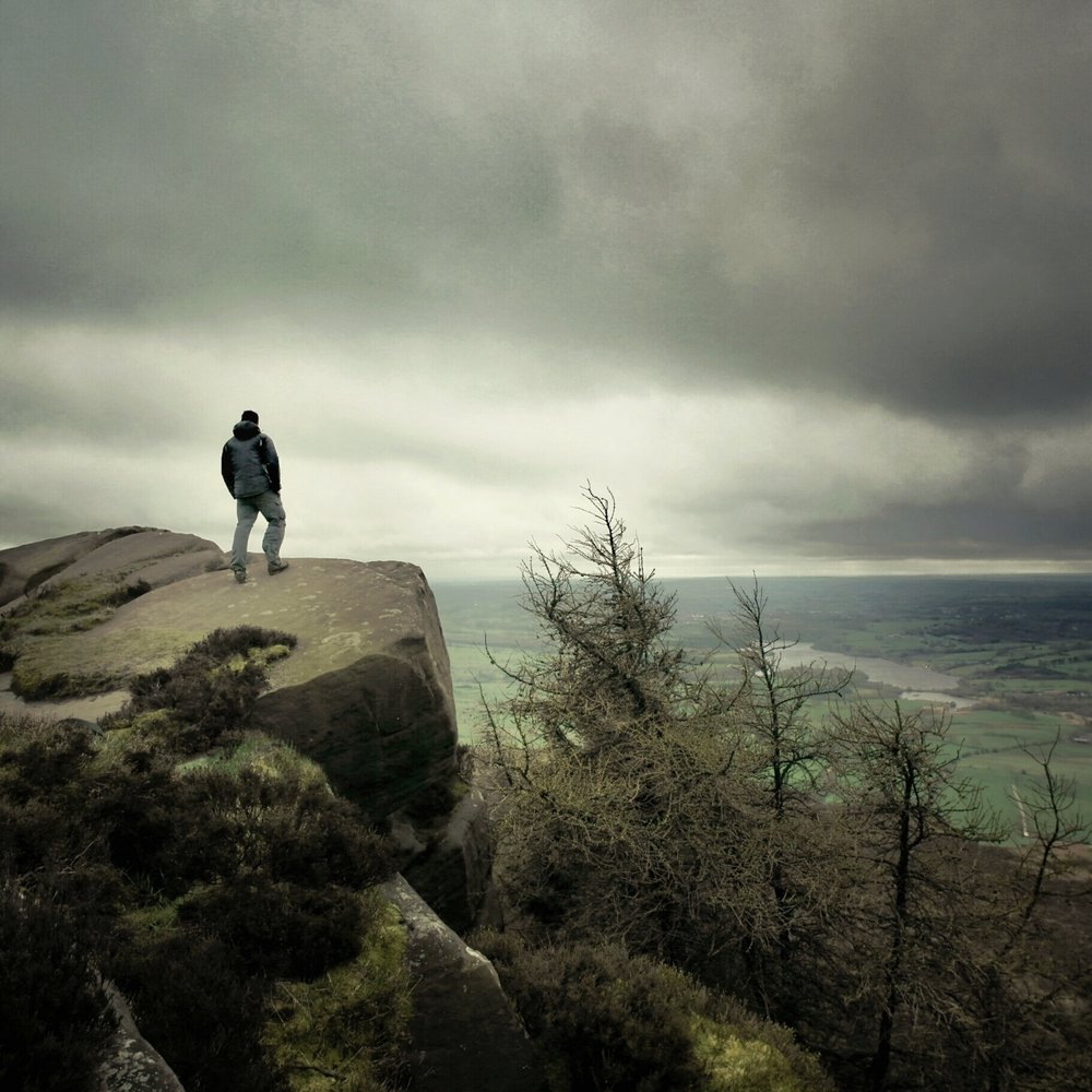 That's me. Standing on the Roaches, looking out across the beautiful countryside below.