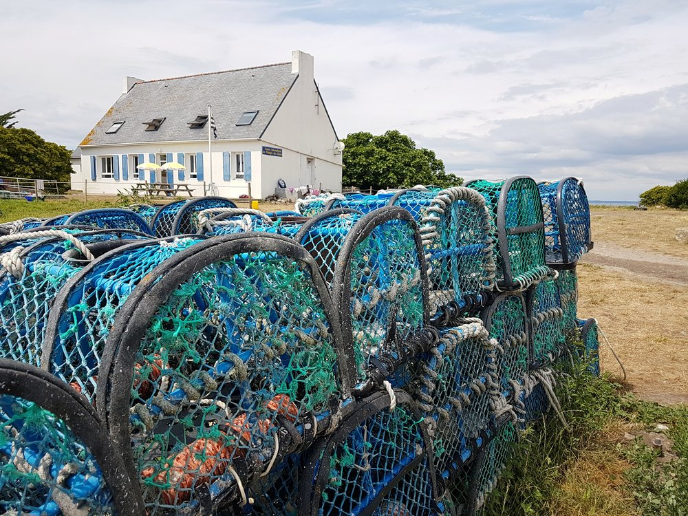 Lobster pots of Iles Saint Nicolas provide an insight into this busy little island. Plenty to see and do here.