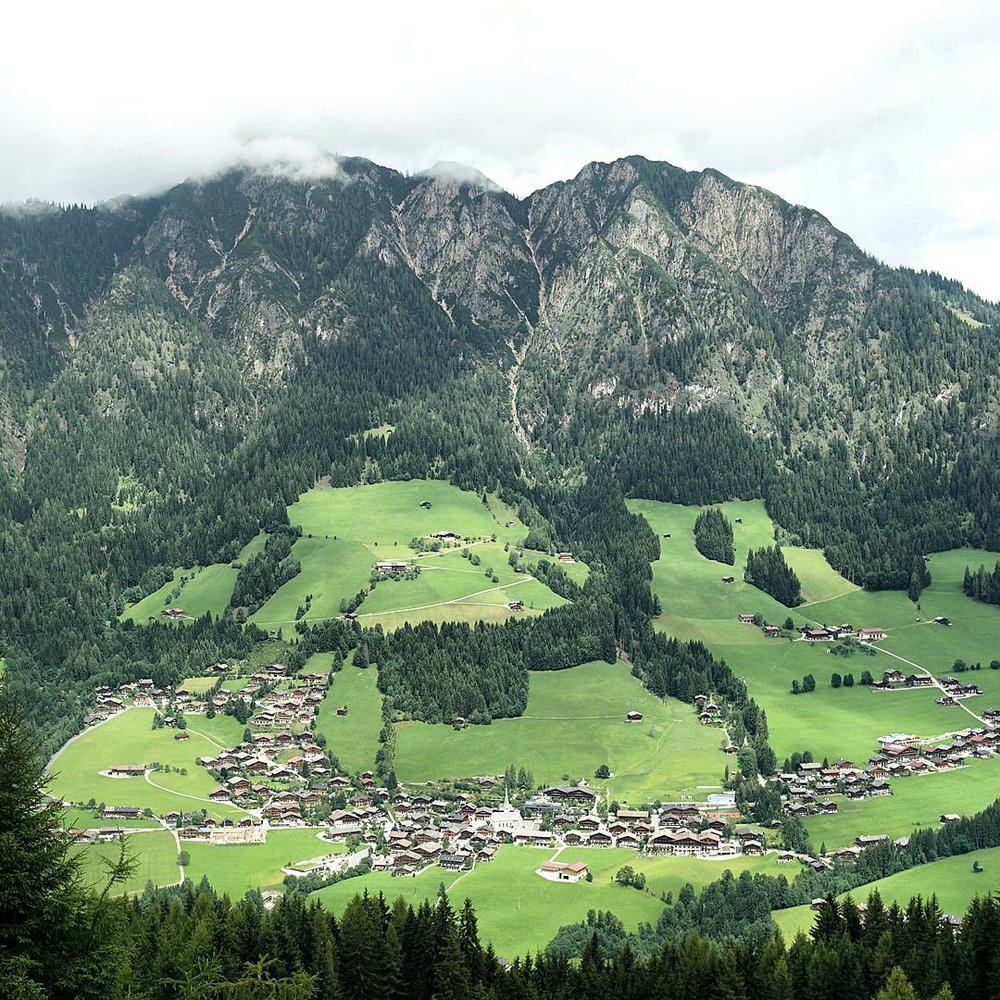 High views of Alpbach. A wonderful spot to take it all in.