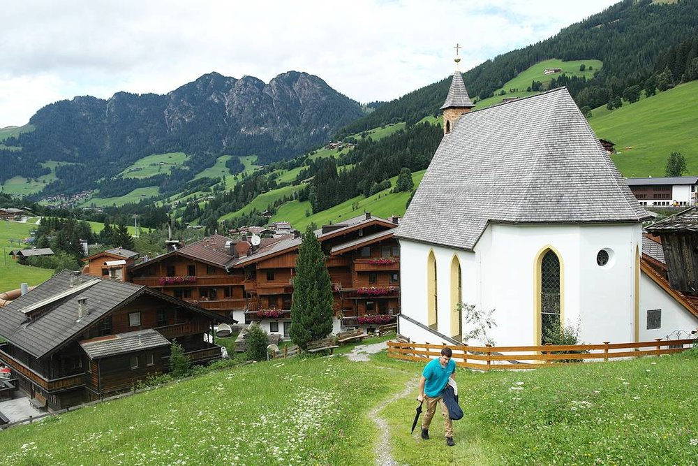This is the village of Inneralpbach and the view down into the valley beyond.