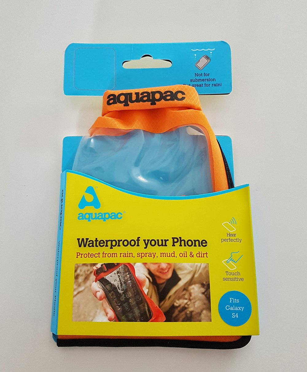 The packaged Waterproof Case. Really great idea and again a must have for anyone using their devices in the outdoors and in particular, in adverse weather conditions.  I used the phone out on the bike, to read my navigation system and during difficult weather conditions. I still could use the phone freely and safely. Without water getting inside.