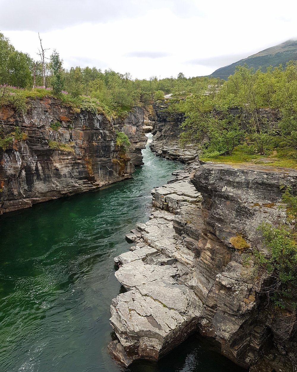 Rugged rocks and the lower valley in the Abisko National Park. You can hike all around and across the river, in some of the finest scenery you will find in Northern Lapland.  It was hard to capture and describe the real beauty of this place.