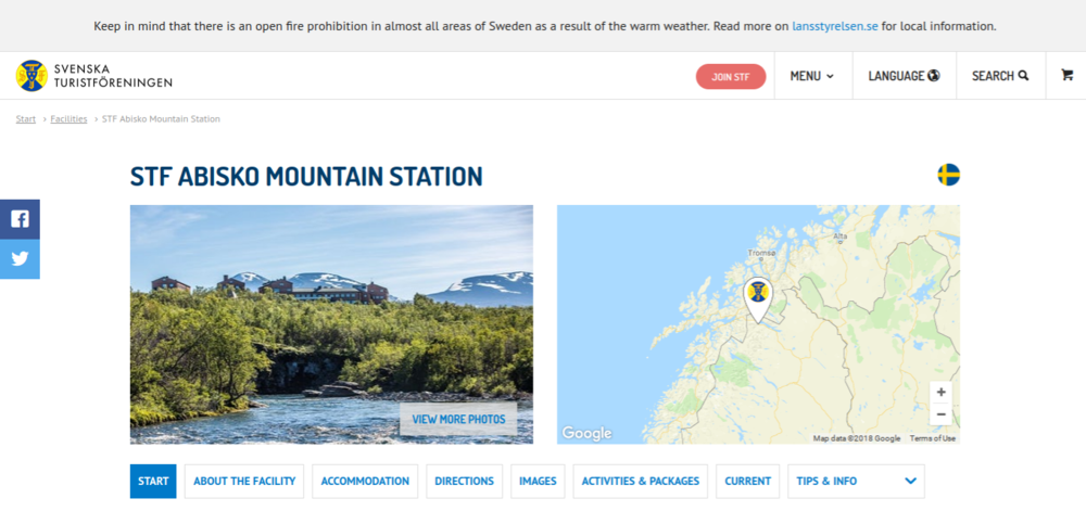 The STF Abisko Mountain Station have a great website and it provides the perfect starting point for all of your adventures.
