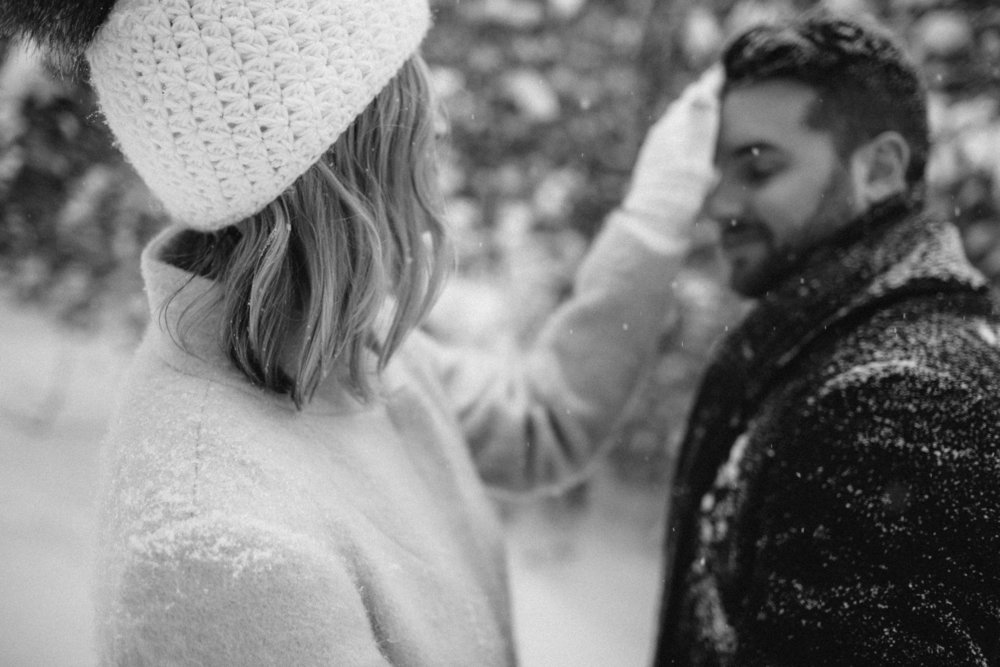 Grand Rapids Michigan Midwest Wedding Photographer Winter Wonderland Engagement Photos