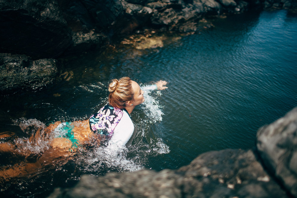 Fun and Adventure Couples Shoot Kayak Waterfalls Jumping Into Water Film and Digital Bright and Colorful Photos