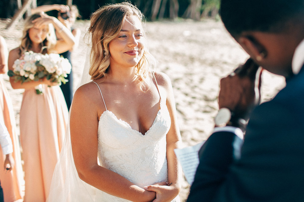 Interracial Intercontinental Wedding Photos Simple Classic Elopement by the Ocean Katie May California Gown Bringing Together United States and Australia Families