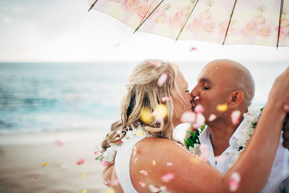 Top Wedding Photographer Near Me in Michigan Elopement on a Beach Married in the Pouring Rain