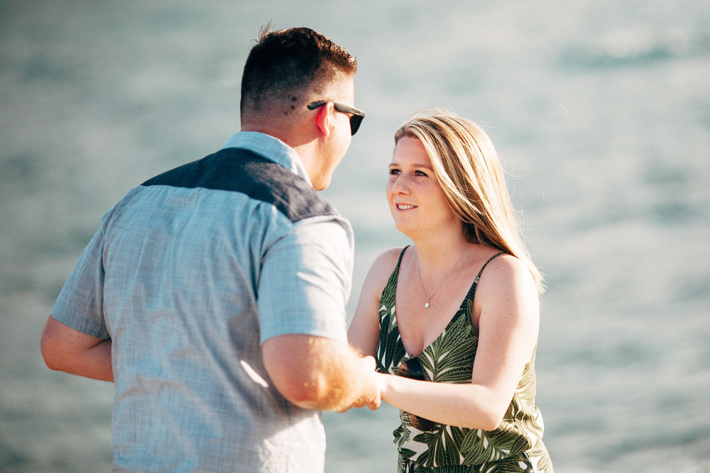 Best Surprise Proposal Photographer in Michigan Proposal by the Lake