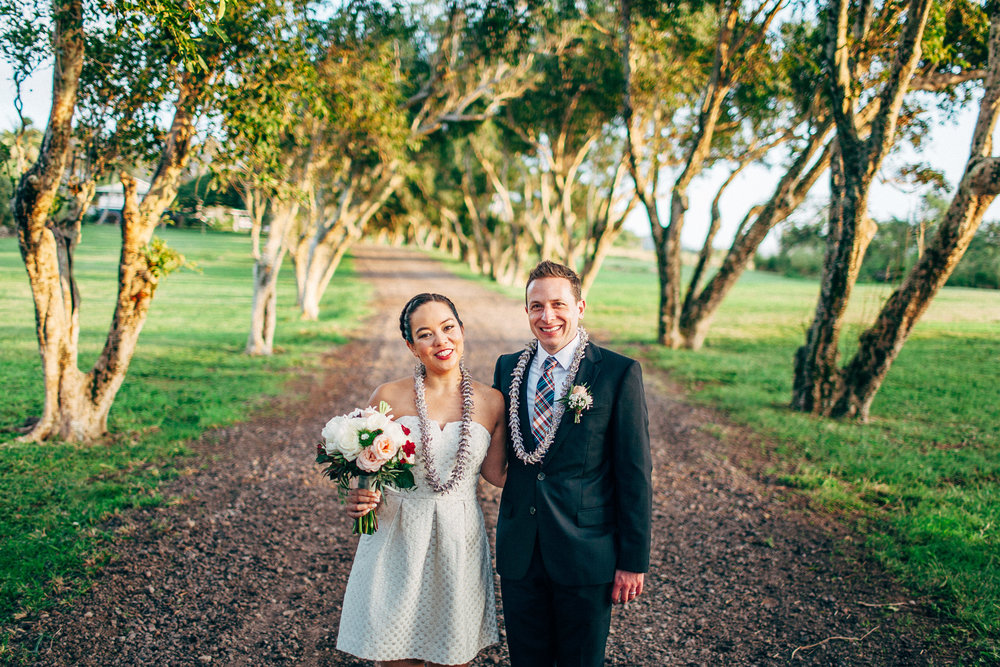 Farm Elopement with a Modcloth Wedding Dress and Red Lips and Fun, Natural Photography