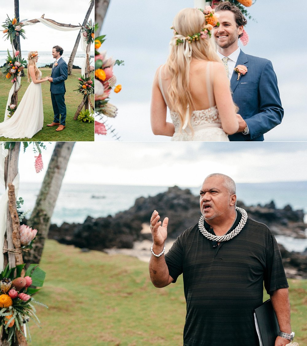 Small Bohemian Wedding on Maui Island