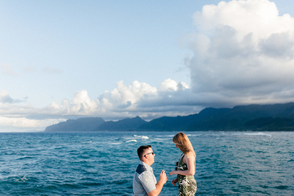 Surprise Proposal Photographer on the North Shore of Oahu, Hawaii