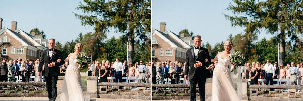 Saugatuck Felt Mansion Outdoor Ceremony
