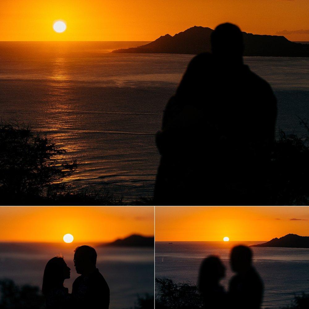 Newlywed Couple's Session at Hanauma Bay, Honolulu Hawaii