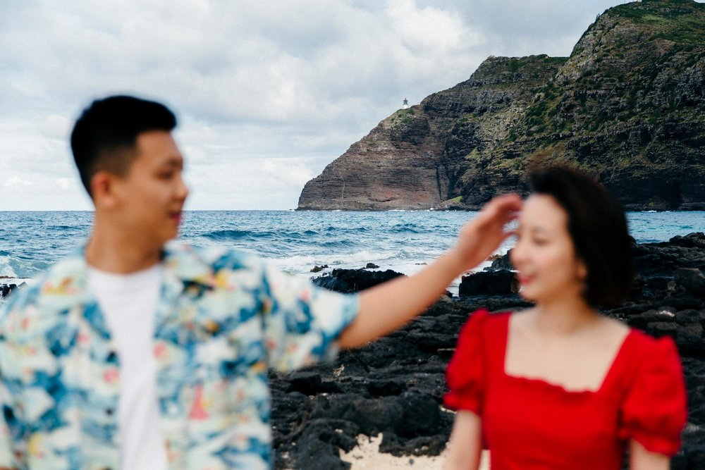 Proposal at Makapuu - Honolulu Hawaii Destination Wedding Photographer