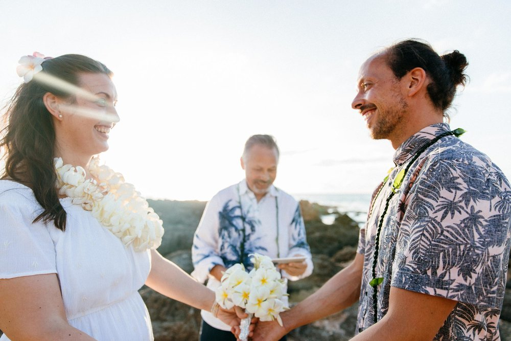 Vow Renewal and Marriage Rededication near Sunset Beach, North Shore, Oahu Hawaii
