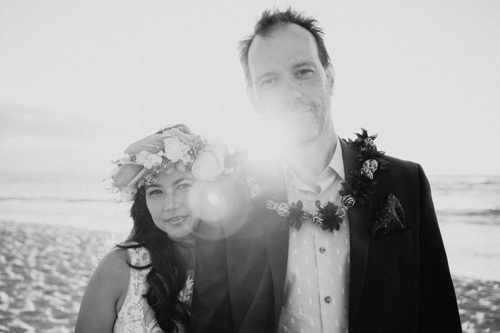 20 year vow renewal on Oahu, Hawaii's North Shore